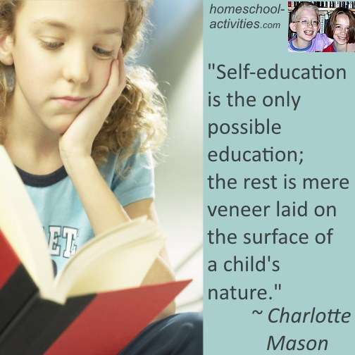 Charlotte Mason quote about self-education