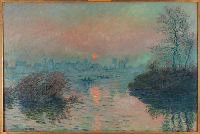 Claude Monet sunset over the Seine