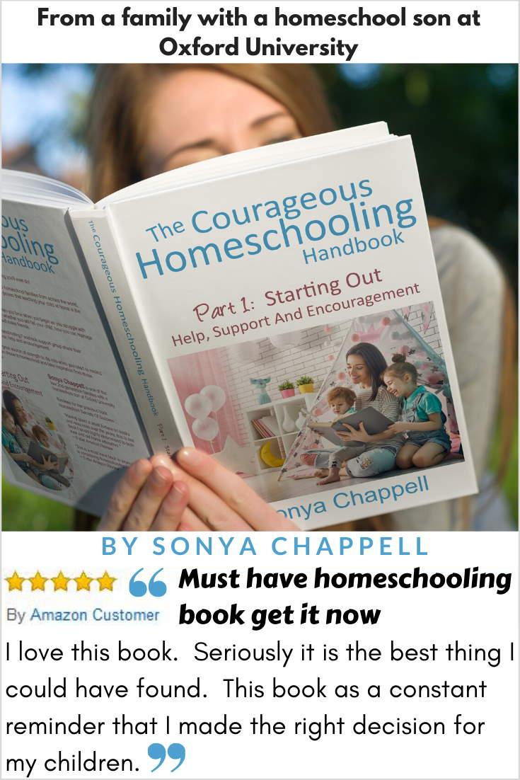 Courageous Homeschooling Handbook Amazon 5 star review