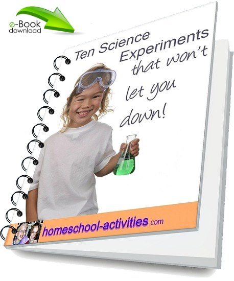 Free e-book of ten cool science experiments for kids.