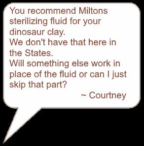dinosaur clay question