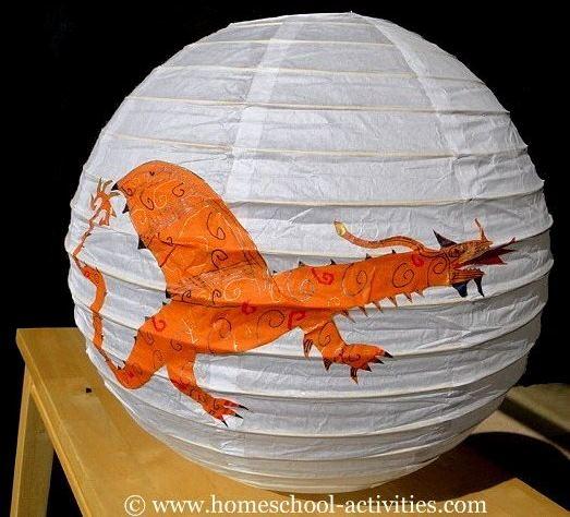 how to make a dragon lantern