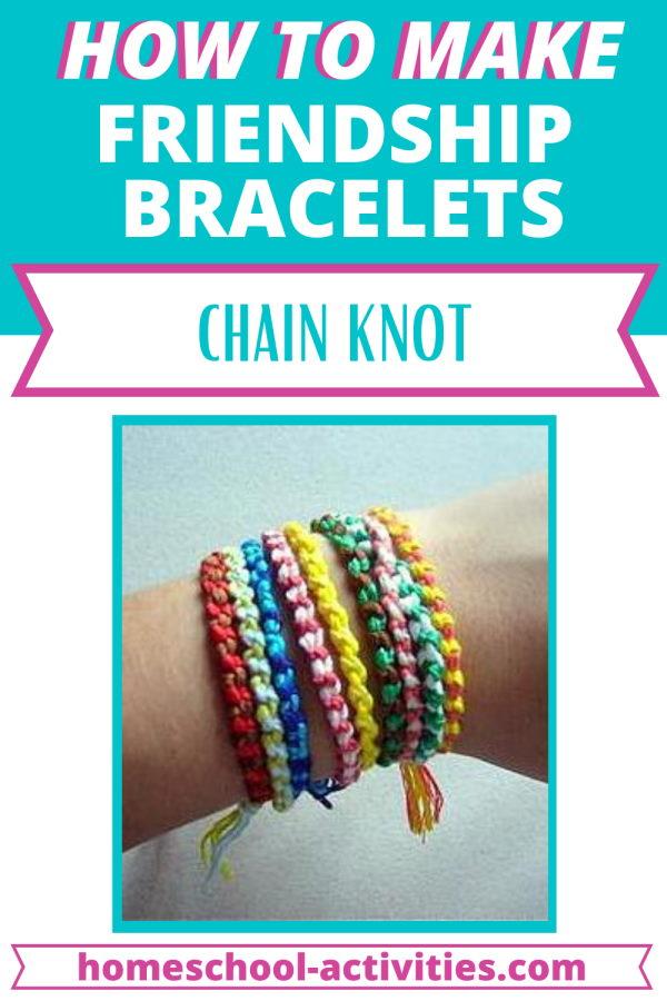 Friendship bracelets tutorial chain knot