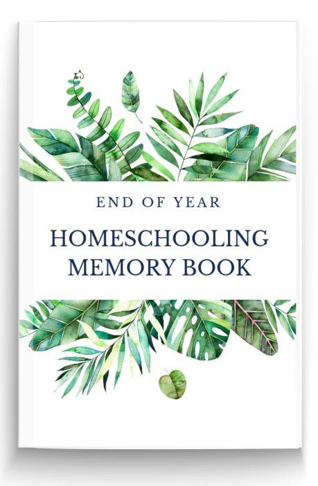 End of Year homeschooling Memory Book