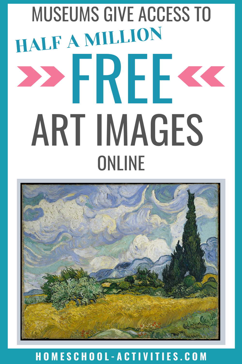Half a million free famous art images from museums across the world.