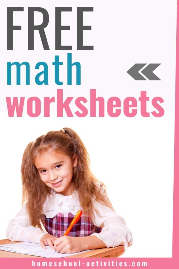 Free printable math worksheets