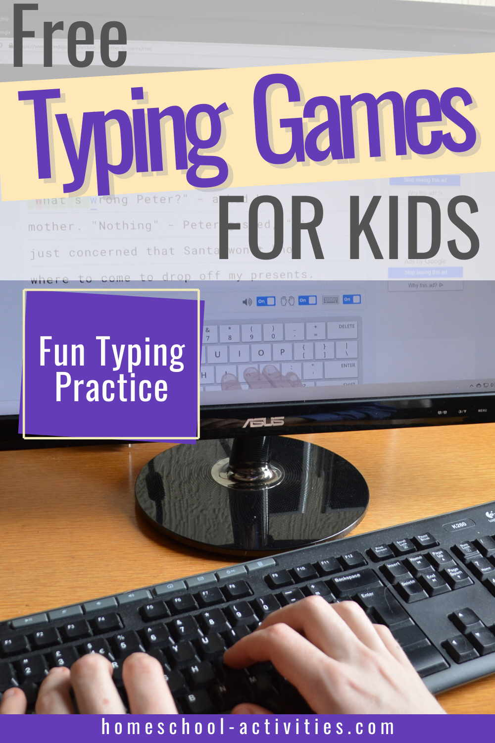 Free typing games and lessons for kids