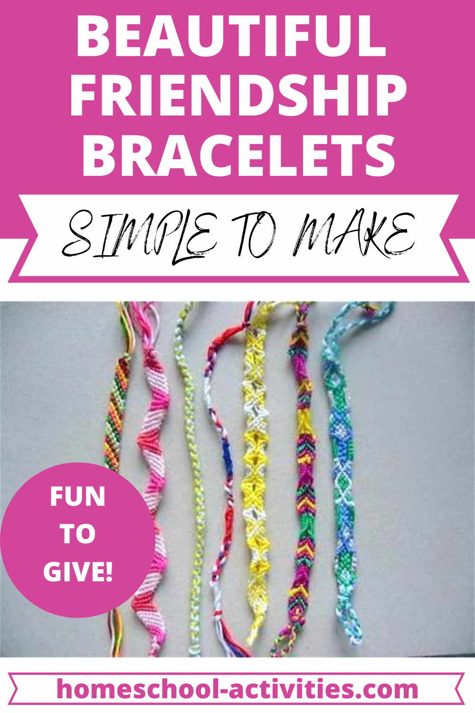 How to make friendship bracelets tutorial