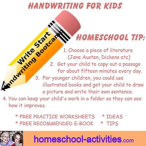 handwriting tip for kids