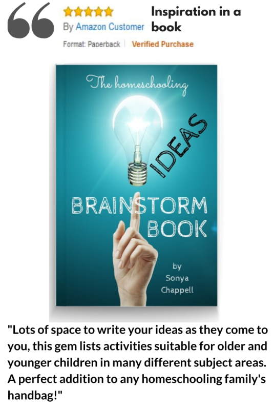Brainstorm book of homeschooling ideas