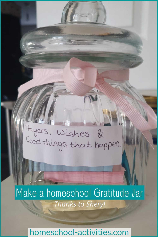 homeschool gratitude jar