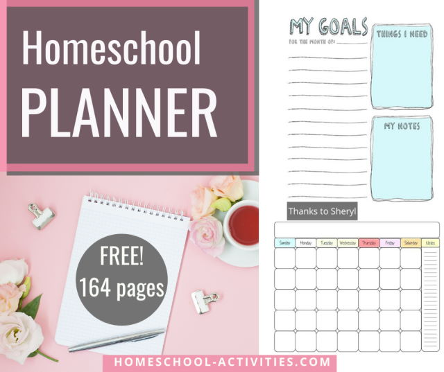 Free printable homeschool planner to schedule your time