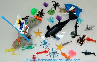 ocean creatures bath toy
