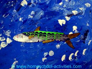 mackerel ocean scene