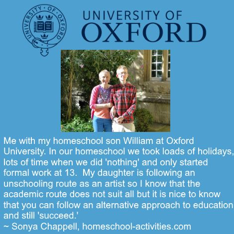 My homeschool son studying at Oxford University