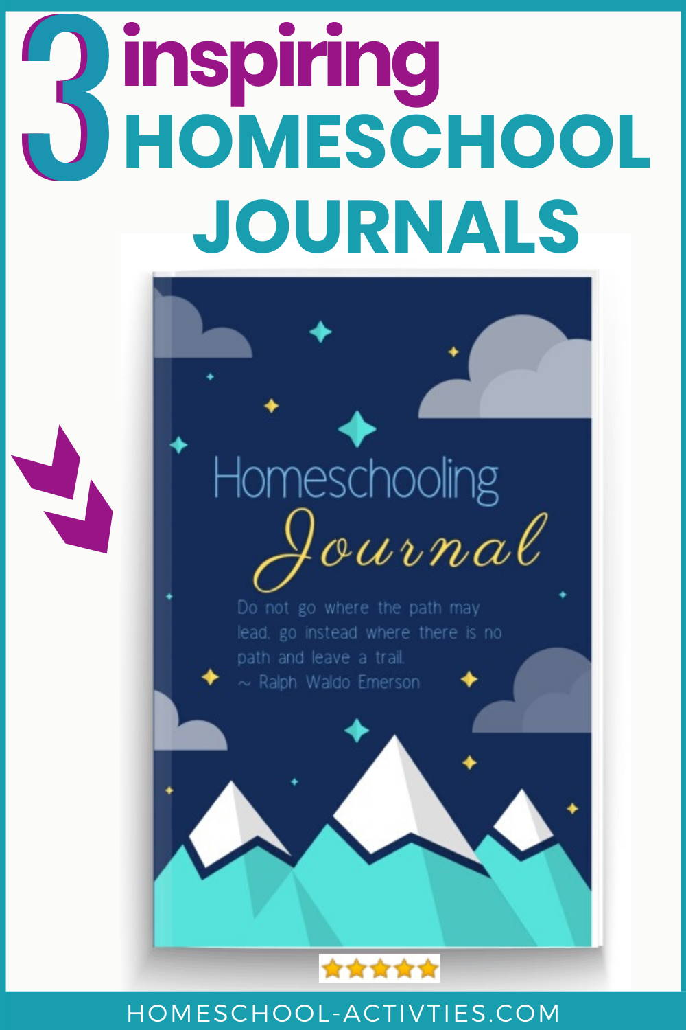 Inspirational homeschooling journals with floral decorations and inspiring quotes