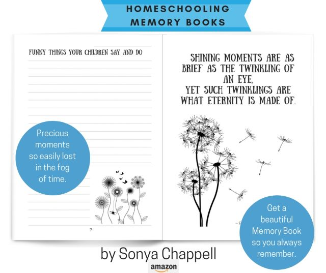 Pages from homeschooling Memory Book