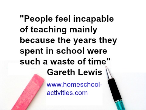 gareth lewis quote about homeschooling