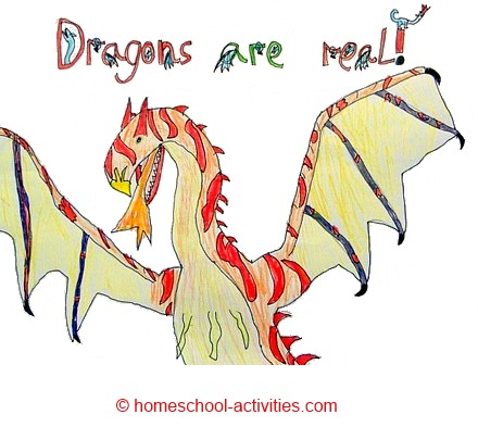 dragons are real drawing