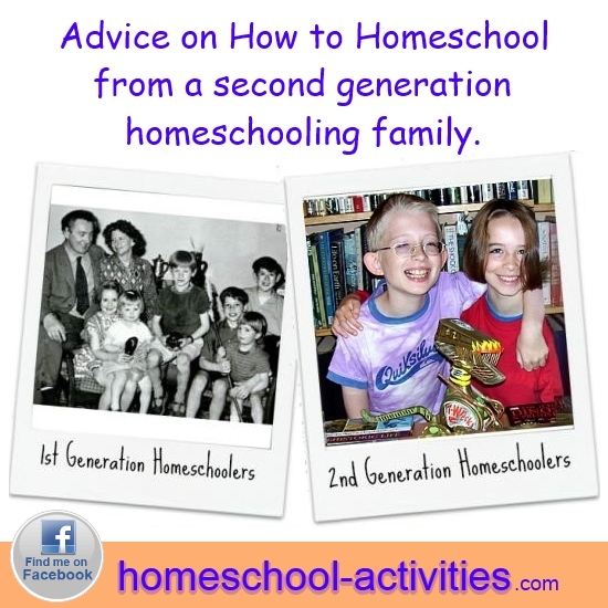 Advice about how to homeschool from a second generation homeschooling family