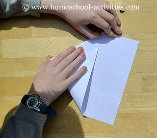 how to make paper airplanes step three