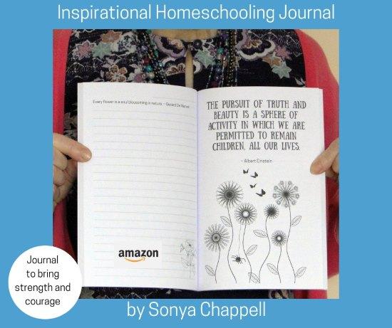Inspirational homeschool journal and notebook