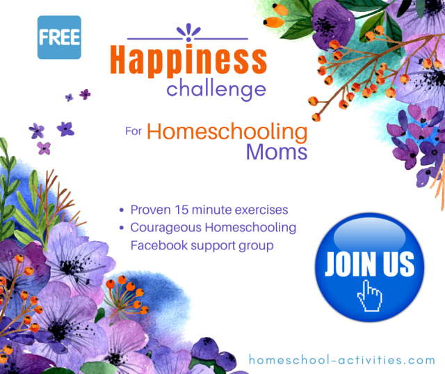 Join the homeschooling Happiness Challenge