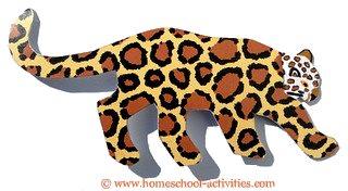 jaguar in pattern card