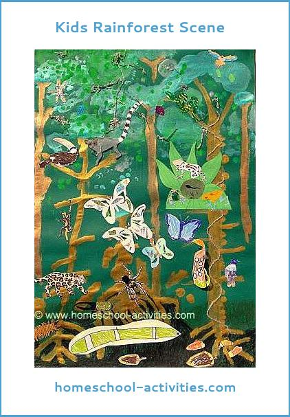 Kids rainforest scene
