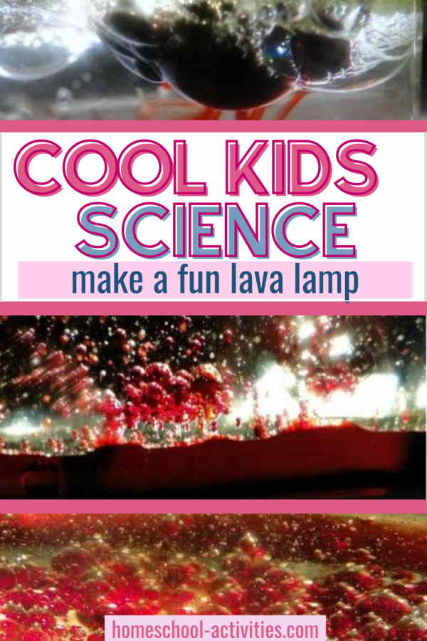 Simple kids science experiment to make a diy lava lamp
