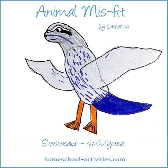 animal mis-fit drawing