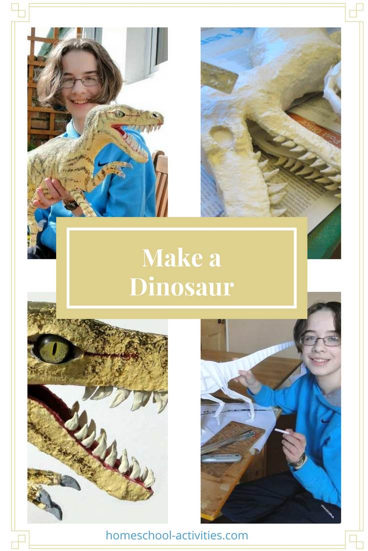 make a dinosaur Velociraptor