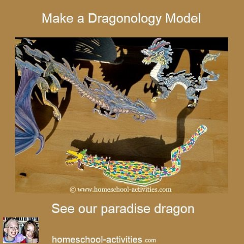 kids model dragon out of card