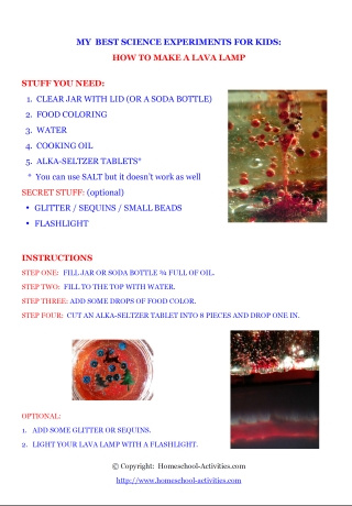 how to make a lava lamp pdf