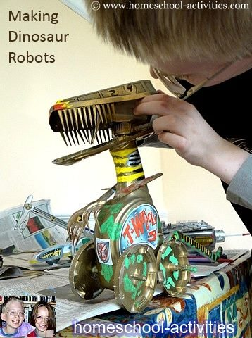 making a dinosaur robot
