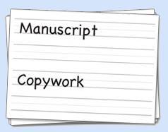 manuscript copywork