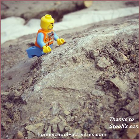 minifig in sand