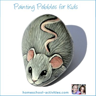 painting pebbles mouse