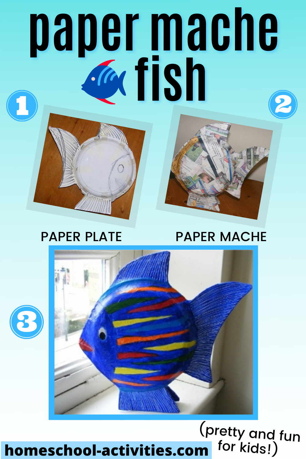 Paper mache crafts for kids with these lovely fish ornaments