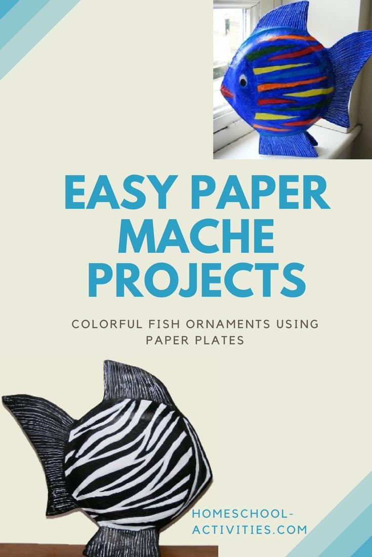 paper mache fish ornaments