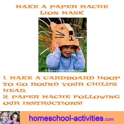 make a paper mache lion mask
