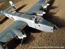 plastic model airplane kit