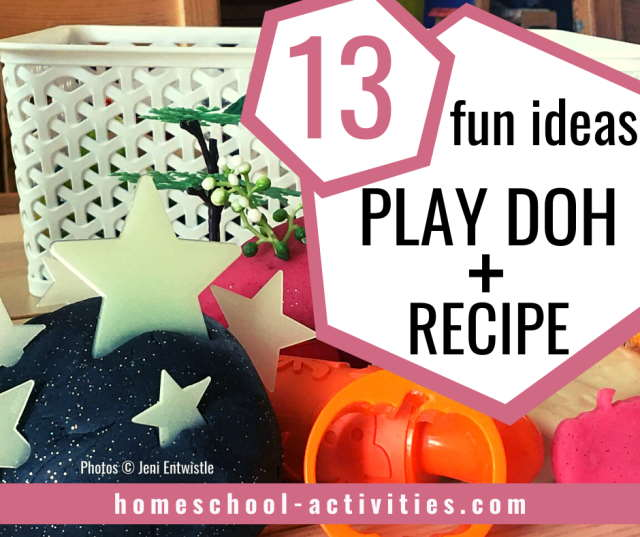 Easy playdough recipe great to make at home with fun ideas and activities for kids