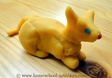 play dough cat