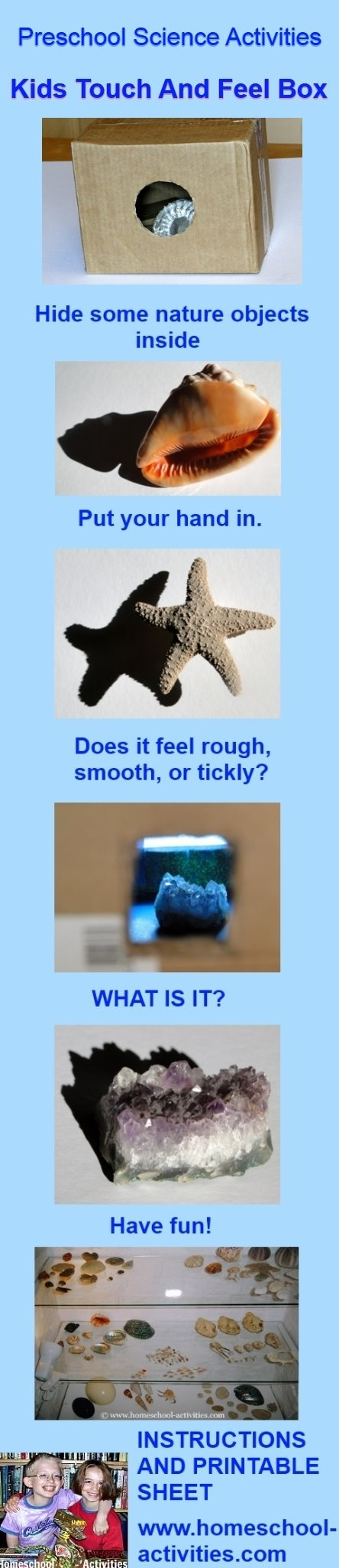 kids touch and feel science experiment