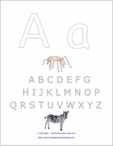 alphabet letter template