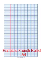 printable french lined paper