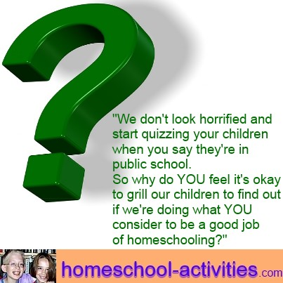 questioning why people are concerned about homeschooling