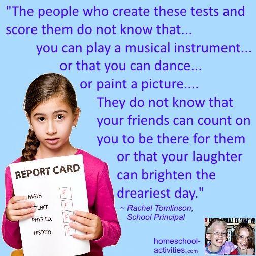 Rachel Tomlinson quote on testing