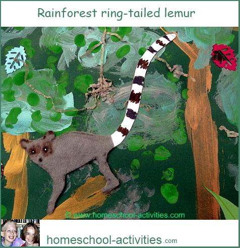 ring tailed lemur painting